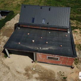 Dach PŁASKI w Tychach 06.2021